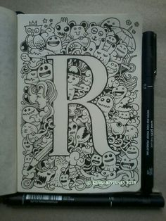 Letter 'r' doodle By kerby rosanes
