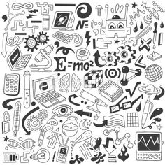Science - doodles collection Royalty Free Stock Vector Art Illustration