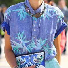 Camisa nos looks de verão - Moda it