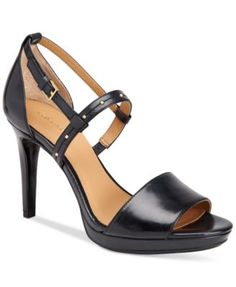 Calvin Klein Women's Pianna Siriana Platform Sandals $94.99 Strappy and sleek, Calvin Klein's Pianna Siriana sandals step up your style with subtle studding and a platform heel in a comfortably chic, go-to look.