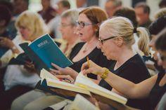 The Edinburgh Festival Chorus in rehearsal ahead of the 2016 Edinburgh International Festival.   Photo by Mihaela Bodlovic