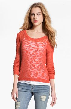 Kensie Burnout Sweater available at Nordstrom