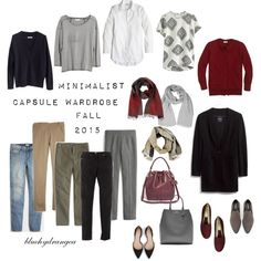 Minimalist Capsule Wardrobe - Fall 2015 by bluehydrangea on Polyvore featuring J.Crew, Madewell, Boden, Zara, Rêve D'un Jour, Banana Republic, SEVENTY, Roberto Cavalli and Lost & Found