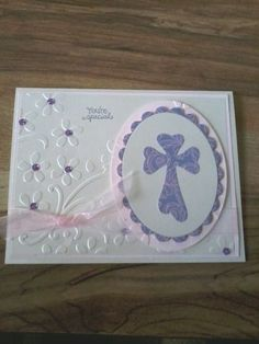 paper craft communion cards   Verve First Communion by stmpnMoira - Cards and Paper Crafts at ...