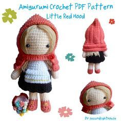 Little Red Riding Hood Amigurumi Crochet Pattern