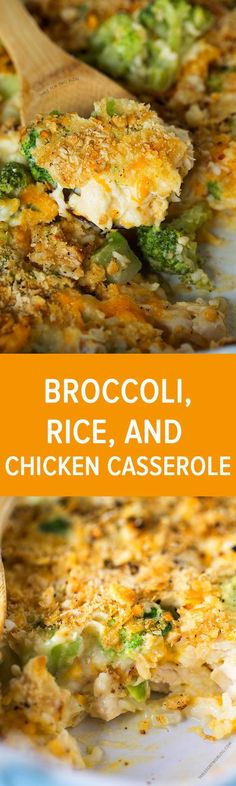This easy broccoli, rice, and chicken casserole is topped with a buttery Ritz cracker crust. This meal comes together in less than 45 minutes and it takes one bowl and one casserole dish! Put this together ahead of time and pop it in the oven when you get I Love Food, Good Food, Yummy Food, Tasty, Cooking Recipes, Healthy Recipes, Food For Thought, Casserole Dishes, Noodle Casserole