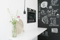 Chalkboard kitchen www.missjettle.nl