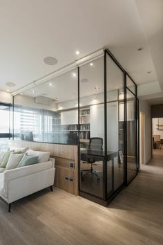 The Best 2019 Interior Design Trends - Interior Design Ideas Condo Interior, Office Interior Design, Office Interiors, Study Room Design, Room Partition Designs, Home Office Space, Style At Home, Home Renovation, Interior Architecture