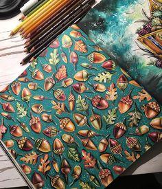 Finalmente acabei!!! Tem vídeo no YouTube https://youtu.be/YPXx35rJHpU expondo material e um pouco de pintura sem muitas pretensões  espero que curtam e se inscrevam! #coloringbooks #coloringbook #livrosdecolorir  #livrosdecolorirantiestresse #coloring #enchantedforest #florestaencantada #johannabasford