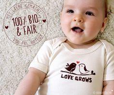 STRAMPLER Love Grows *bio & fair wear von ROTFUX auf DaWanda.com