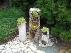 DIY - Betonsäule zum Bepflanzen - Pflanzturm aus Beton - YouTube