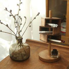 Storage Shelves, Shelving, Shelf, Pencil Organizer, Rustic Desk, Pens And Pencils, Abstract Shapes, Walnut Wood, Storage Organization