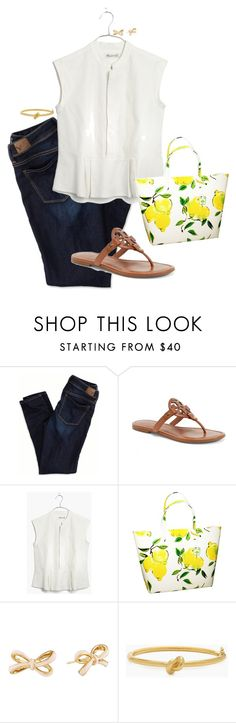 """""""one item tag"""" by preppy-classy ❤ liked on Polyvore featuring American Eagle Outfitters, Tory Burch, Madewell and Kate Spade"""