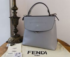 6c9d16ab081d Fendi Back to School Large Backpack in Blue Powder Smooth Calfskin