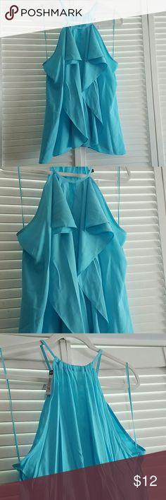 Light blue blouse Jennifer Lopez, lightweight material Jennifer Lopez Tops Camisoles