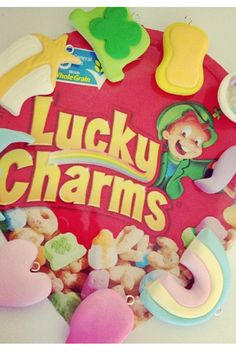 Lucky charms polymer clay charms only make into a ( LUCKY CHARMS BRACELET)