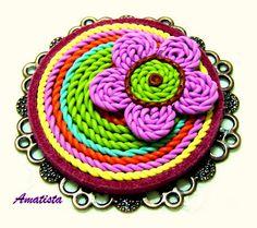 Broche imitación crochet | by el rincón de amatista