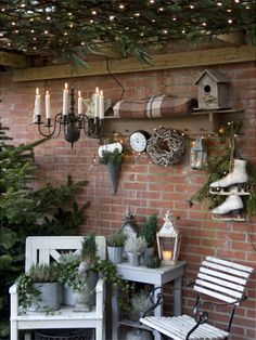 Spend the Christmas holidays outdoors and present your guests and passers-by the most beautiful garden in Christmas clothes - Garten und Gartendeko - Christmas Garden, Christmas Porch, Outdoor Christmas, Winter Garden, Christmas Holidays, Christmas Decorations, Christmas Clothes, Autumn Decorations, Xmas