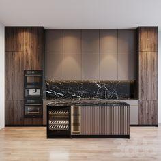 Modern Kitchen Interiors, Luxury Kitchen Design, Kitchen Room Design, Best Kitchen Designs, Home Room Design, Luxury Kitchens, Kitchen Dinning Room, Interior Design Living Room, Kitchen Cabinet Design