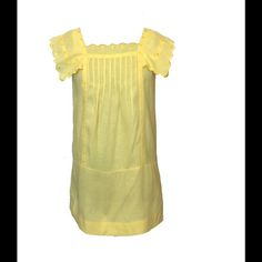 Size 2 See By Chloe Yellow Linen Shift Dress Like new condition See by Chloe Dresses