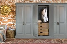 The ultimate storage solution for all your clothes - Artisan lay-on fitted wardrobe in birch with tarnished brass handles from John Lewis of Hungerford. http://www.john-lewis.co.uk/bedrooms/classic-artisan-bedroom