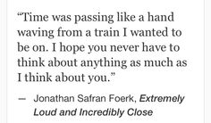 Jonathan Safran Foerk, Extremely Loud and Incredibly Close #quotes