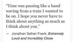 Jonathan Safran Foerk, Extremely Loud and Incredibly Close #quotes