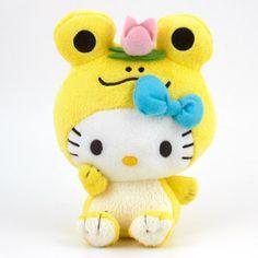 Hello Kitty Plush: Yellow Frog