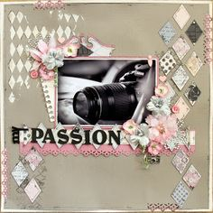 scrapbooking layout made by Val Thorpe