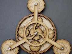 Gearbug #1 by dustinandrews - Thingiverse, A laser cut mechanical toy based off a planetary gear system.