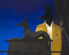 Joanna Karpowicz - Anubis in Cairo Museum (acrylic on canvas, Egyptian Mythology, Egyptian Goddess, Ancient Aliens, Ancient Egypt, Ancient Greece, Ancient History, Cairo Museum, Winter In Japan, European History