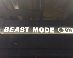 Beast Mode On, Home Gym Wall Vinyl Art Decal Motivational Quote
