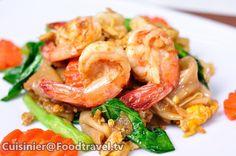 เส้นใหญ่ผัดซีอิ้วกุ้ง - FoodTravel.tv สูตรอาหาร ทำอาหาร