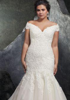 Mori Lee Plus Wedding Dresses, Lace Mermaid Wedding Dress, Plus Size Wedding, Mermaid Dresses, Wedding Dress Styles, Bridal Dresses, Wedding Gowns, Lace Dress, Trendy Wedding