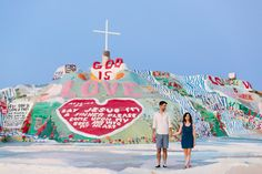 www.marycostaphotography.com | Salvation Mountain Engagement | Molly & Gideon | 040