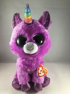 BRAND NEW WITH TAGS 1//2 PRICE LOT OF 3 TY BEANIE BOOS PONIES BONUS