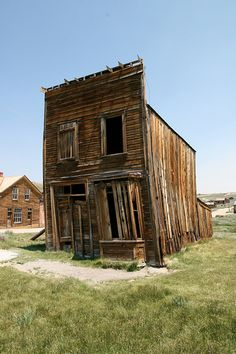 An abandoned building in Bodie, CA, one of California's most notorious ghost towns.