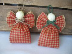 Orange Angel Ornaments UPick Trim Color Set of by SnowNoseCrafts