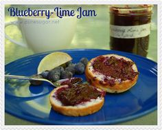 blueberry lime jam by Carol at puresugar.net, via Flickr