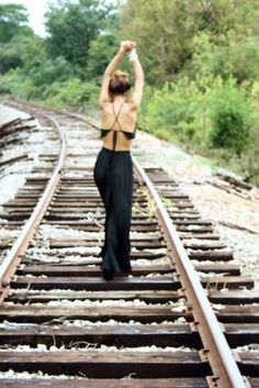 dancing on the railroad