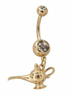 14G Steel Genie Lamp Navel Barbell | Hot Topic