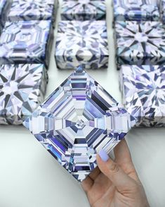 """JUST ADDED THESE TO MY WEBSITE!! Mini 4""""x4"""" diamond giclees on canvas! Perfect way to add a little sparkle to your wall or desk... and great for gifts! Head over to @trabertgoldsmiths and enter to win one! They can also be purchased for $60 (or all 3 for $144). Shop the link in my bio #diamondpainter"""