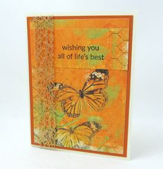Wishing You All of Life's Best  Deep Orange by PrettyByrdDesigns