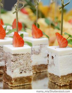 Käsekuchen Häppchen Hochzeit für Hochzeit