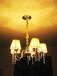 Last week I spruced up some ugly recessed lighting fixtures, and today I finally tackled my bland dining room chandelier. The dining room light was one of the many things I hoped to replace soon after we moved into the house, but it just didn't happen and at this point buying a new chandelier is …