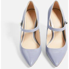 PUMPS IN LACKOPTIK MIT RIEMCHEN - SCHUHE-DAMEN-KOLLEKTION SS/17 | ZARA... (380 SEK) ❤ liked on Polyvore featuring shoes and pumps