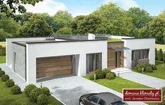 Modern House Facades, Modern Bungalow House, Best Modern House Design, Small House Design, Flat Roof House, Facade House, Small House Plans, House Floor Plans, Casas Country