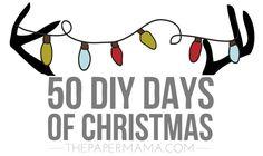 Need handmade gift ideas? 50 DIY Days of Christmas is here! // thepapermama.com