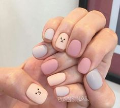 45 types of makeup nails art nailart 36 - nails - Latest Nail Art Trends Cute Acrylic Nails, Pastel Nails, Cute Nails, Simple Nail Art Designs, Easy Nail Art, Essie, Do It Yourself Nails, Nagel Blog, Nailart