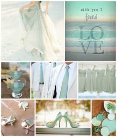 Indulge in the casual cool of seafoam green for an epic beach wedding!